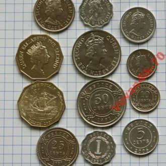 БЕЛИЗ - набор монет 6 с