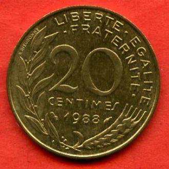 20 сантимов 1988