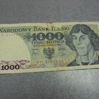 польша 1000 злотых 1982