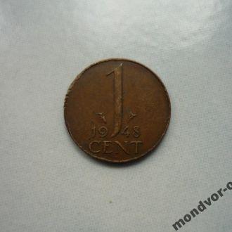 Нидерланды 1 цент 1948