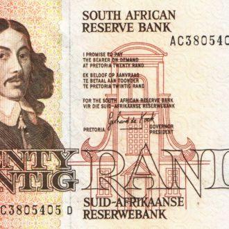 Южная Африка / ЮАР 20 RAND 1982-85 гг UNC