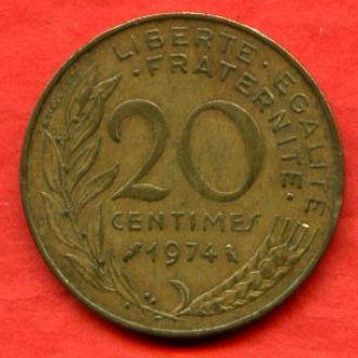 20 сантимов 1974