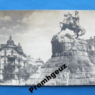 Киiiв. Памятник Богдану Хмельницькому. 1950 г
