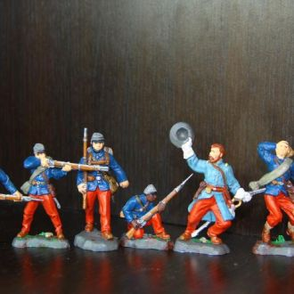 пехотинцы и зуавы (REPLICANTS)  55-60мм(цвет)