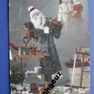 Санта Клаус с подарками. до 1917 г