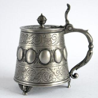 Оловянный пивной бокал XVIII века, 0,5 Л, Germany