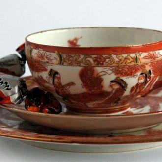 Чашка блюдце тарелка Гейша Птицы №2 литофания