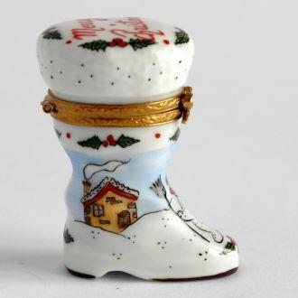Шкатулка коллекционная Новогодняя, Limoges, France
