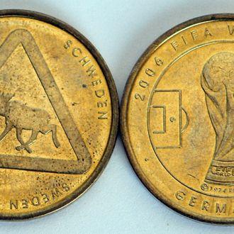 ЧМ по футболу 2006 памятная медаль команда Швеции