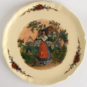 Тарелка панно поднос керамика Obernai France