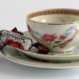 Чашка блюдце тарелка Гейша Лотос 1 IBUKI литофания