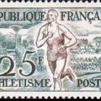 Франция 1953 спорт плавание л/а гребля **