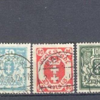Германия Данциг 1923 классика №№ 138-42 (стр4)