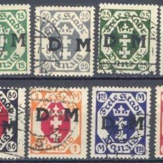 Германия Данциг 1921 классика №№ Д1-14 (стр4)