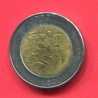 Сан Марино 500 лир 1982 Биметалл