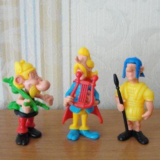 Астерикс 1990год (Asterix) 3штуки