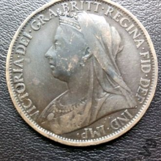 Penny 1898. Queen Victoria. 1 Пенни Англия.
