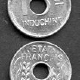 Indochina / Индокитай - 1 Cent 1943 - aUNC - OLM