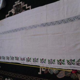 домоткана вишита скатертина на лавку скатерть (№556)