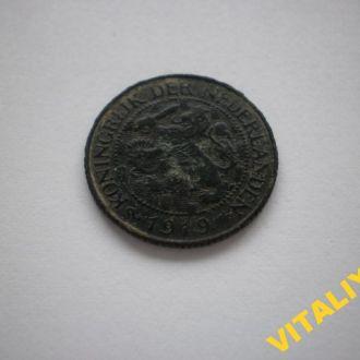 РАРИТЕТ. НІДЕРЛАНДИ. Голандія. 1 цент 1919 рік.