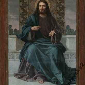 Христос Святейшее Сердце. Модерн. 1899 г. 130 см!