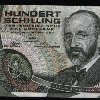 Австрия 100 шиллингов 1984 г аUNC