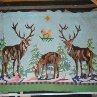 вишитий коврик дорiжа картина оленi (№592)
