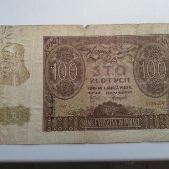 Польша  100 злотых   1940 г.