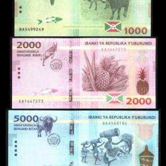 Burundi/ Бурунди - набор 5 банкнот 2015 - aUNC OLM