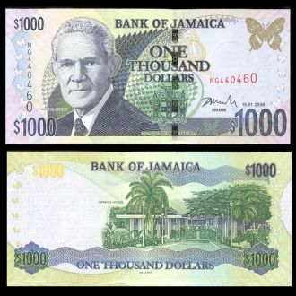 Jamaica / Ямайка - 1000 Dollars 2008 UNC OLM-OPeN