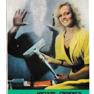 Календарик 1991 Реклама СССР, пылесос Ракета, девушка