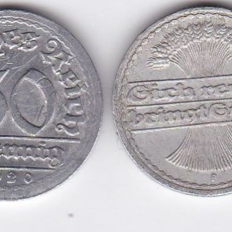 Germany Германия - 50 Pfennig 1920 -F VF JavirNV