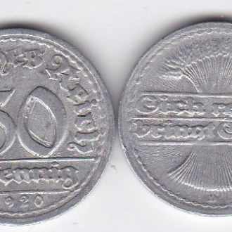 Germany Германия - 50 Pfennig 1920 -D VF JavirNV