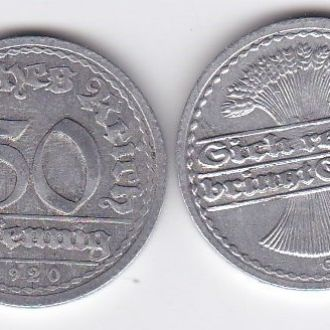 Germany Германия - 50 Pfennig 1920 -G VF+ JavirNV