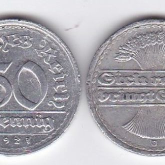 Germany Германия 50 Pfennig 1921 -G VF+ JavirNV