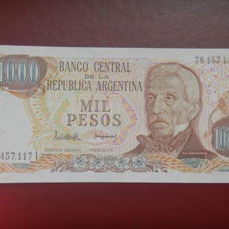 Аргентина 1000 песо 1976 UNC