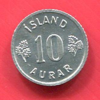Исландия 10 аурар 1974 UNC