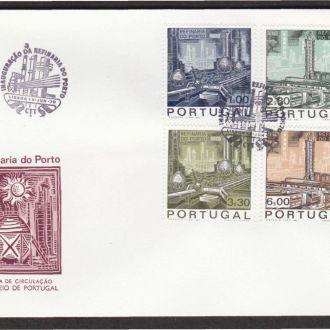 Португалия 1970 НЕФТЬ ПЕРЕРАБОТКА НПЗ г.ПОРТУ ПОЛЕЗНЫЕ ИСКОПАЕМЫЕ РЕСУРСЫ КПД Mi.1095-1098 EUR 8.00