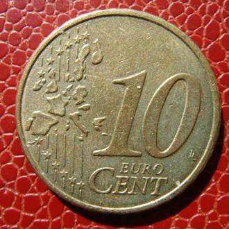 Германия 10 центов 2002 год D
