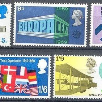 Британия 1969 авиация Европа флаги люди карта ** о
