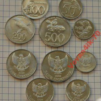 ИНДОНЕЗИЯ - набор монет 5 сет новый дизайн