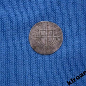 Тевтонский Орден 1 шиллинг около 1400 г СЕРЕБРО