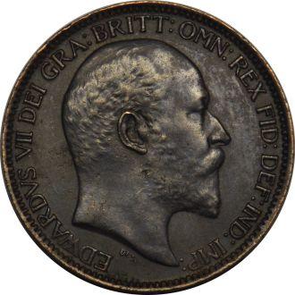 Великобритания 1 фартинг 1908