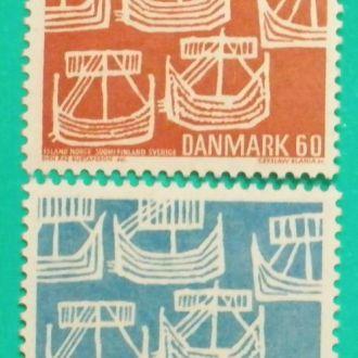 Дания. 1969 г. Корабль викингов