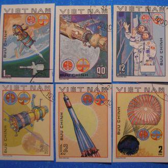 Вьетнам. 1980 г. Программа Интеркосмос. б/зуб