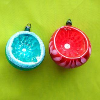 Новогодние елочные игрушки Фонарики старинные