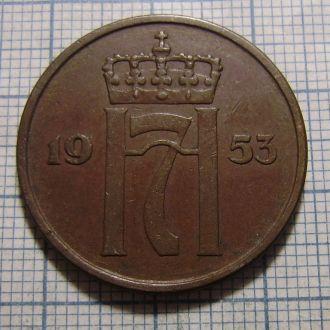 Норвегия, 5 эре 1953 г