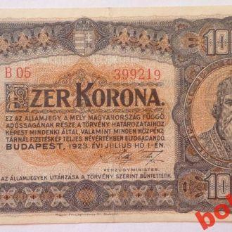 1000 корон 1923 г Венгрия ( монетный двор )