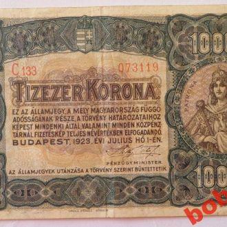 10 000 корон 1923 г Венгрия ( монетный двор )