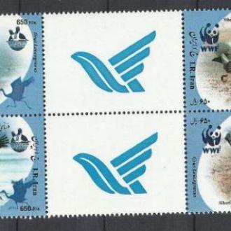 Иран 2007 фауна ВВФ 2х4м.+купон**